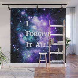 Teal Violet Galaxy : I Forgive It All Wall Mural