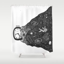 Time Exploding Shower Curtain