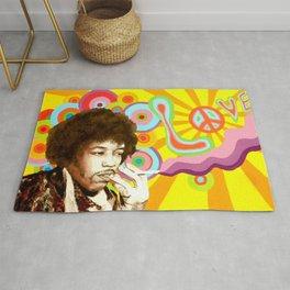Jimi Hendrix (Peace & Love) Rug