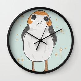 Space Porg Wall Clock