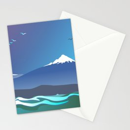 Mont Taranaki From The Sea Stationery Cards