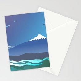 Mont Taranaki From The Sea Stationery Cards