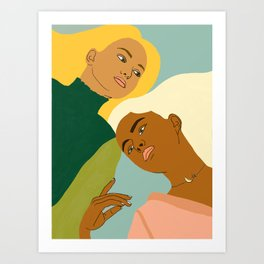 Two Souls One Body | #illustration #painting Art Print