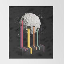 RainbowMoon Throw Blanket