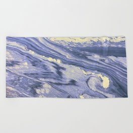 Lavender Marble With Cream Swirls Beach Towel