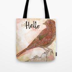 Hello Bird Tote Bag