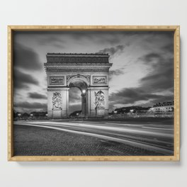 PARIS Arc de Triomphe | monochrome Serving Tray