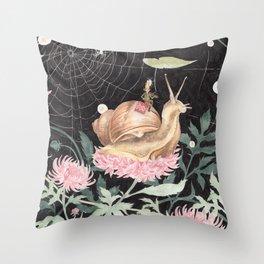 Snail Boy Throw Pillow