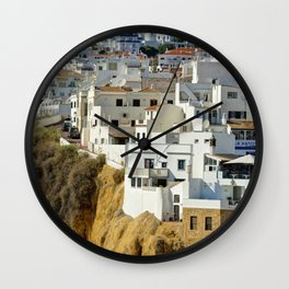 Albufeira old town, Portugal Wall Clock