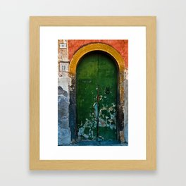 Magic Green Door in Sicily Framed Art Print