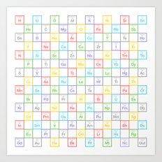 Periodic Pattern Art Print