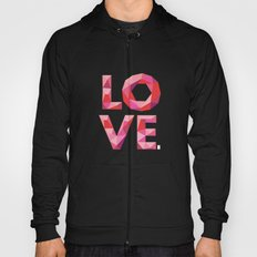 Red Faceted Love Stacked Hoody