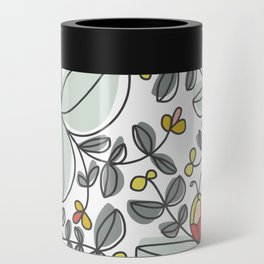 Watercolor Floral Can Cooler
