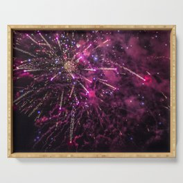 Fire works Serving Tray