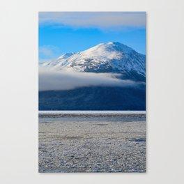 Winter Fog - Turnagain Arm, Alaska Canvas Print