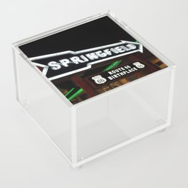 Route 66 Neon Birthplace Acrylic Box