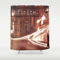 infinite Shower Curtains featuring infinite. by Sammi