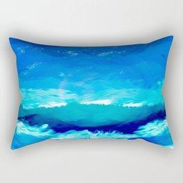 blue sky artwork drawing painting Rectangular Pillow