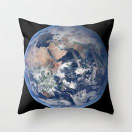 2014 NASA Blue Marble Throw Pillow