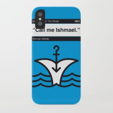 No001 MY MOBY DICK Book Icon poster Slim Case iPhone X