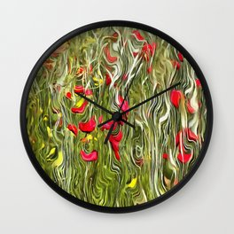 Poisoned Poppies Wall Clock
