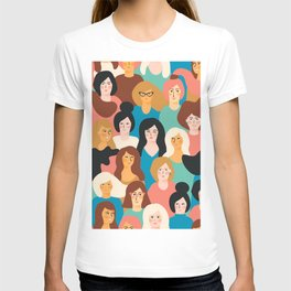 CUTE ALL-OVER WOMENS MARCH PATTERN T-shirt