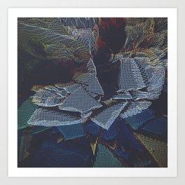Lychee Mosaic Mosaic Art Print