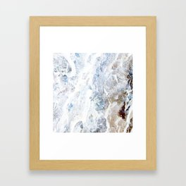 Earth Marble Framed Art Print