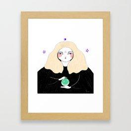 Black magic woman Framed Art Print