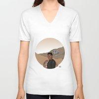 finn V-neck T-shirts featuring Finn by jorgeink