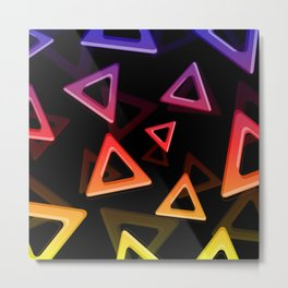 80's Triangles Metal Print