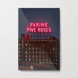Farine Five Roses Metal Print