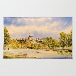 Windsor Castle And River Thames Rug