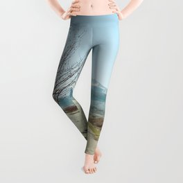 Mountains in the background Leggings