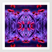 poppies Art Prints featuring poppies by haroulita
