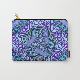 7 Blue Celtic Horses Carry-All Pouch
