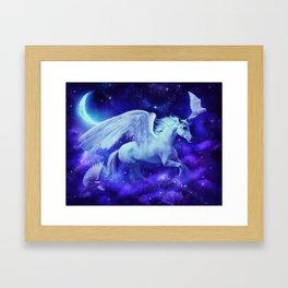 pegasus in the stars Framed Art Print