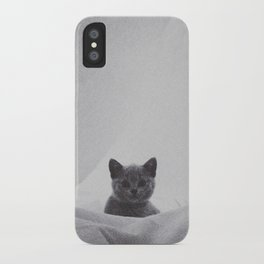 Kitten under the sheets iPhone Case