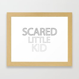 Scared Little Kid Framed Art Print