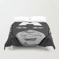 secret life Duvet Covers featuring The secret life of heroes - Photobooth2-2 by Greg-guillemin