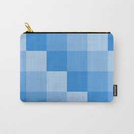 Four Shades of Light Blue Square Carry-All Pouch