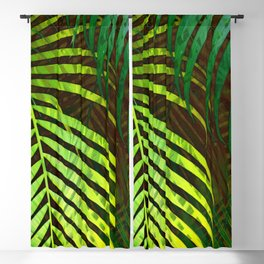 TROPICAL GREENERY LEAVES no8a Blackout Curtain
