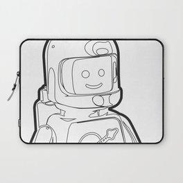 Vintage Spaceman Wireframe Minifig Laptop Sleeve