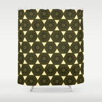 ethnic Shower Curtains featuring ethnic by clemm