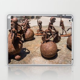 Rusty Metal Figures Laptop & iPad Skin