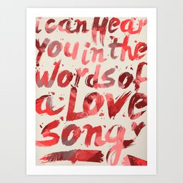 words of a love song Art Print