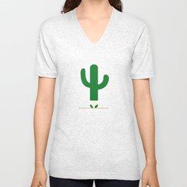 Cactus in underpants. Unisex V-Neck