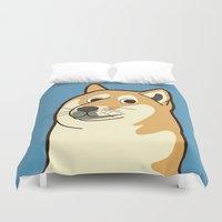 doge Duvet Covers featuring Doge by evannave