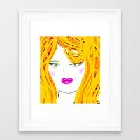 blondie Framed Art Prints featuring Blondie by Tina Vaughn
