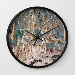 Scratched Surface Wall Clock